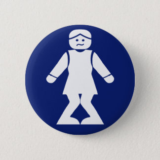 Restrooms (HONG NAM) ⚠ Thai Asian Toilet Sign ⚠ Pinback Button