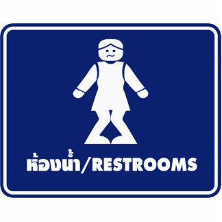 Restrooms (HONG NAM) ⚠ Thai Asian Toilet Sign ⚠ Statuette