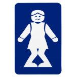 Restrooms (HONG NAM) ⚠ Thai Sign ⚠ Rectangle Magnet