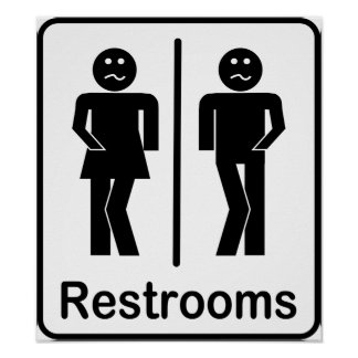 Restrooms Sign Poster