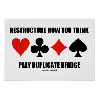 Restructure How You Think Play Duplicate Bridge Posters