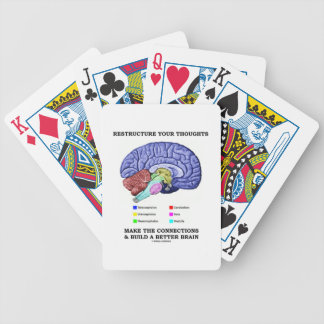 Restructure Your Thoughts Make The Connections Bicycle Playing Cards