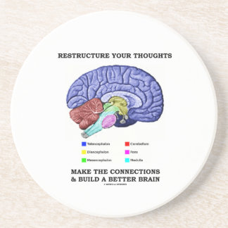 Restructure Your Thoughts Make The Connections Coasters