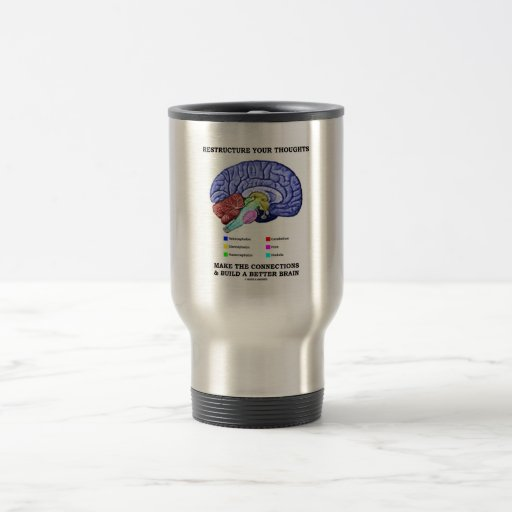 Restructure Your Thoughts Make The Connections 15 Oz Stainless Steel Travel Mug