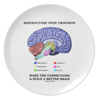Restructure Your Thoughts Make The Connections Dinner Plates