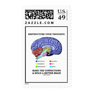 Restructure Your Thoughts Make The Connections Postage Stamp