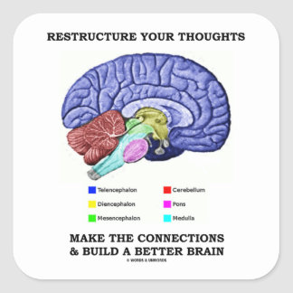 Restructure Your Thoughts Make The Connections Stickers