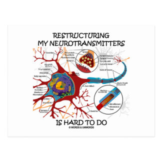 Restructuring My Neurotransmitters Is Hard To Do Postcard