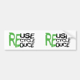 Resue recicla reduce pegatina para auto