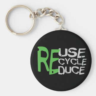 Resue Recycle Reduce Keychain