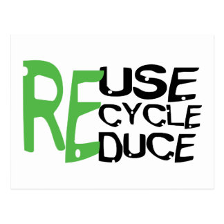 Resue Recycle Reduce Postcard