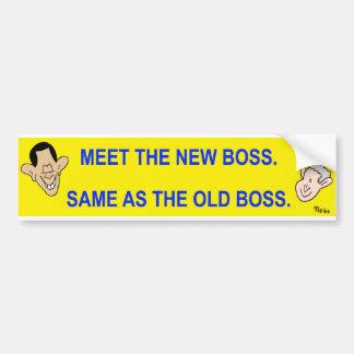 resuelva el nuevo jefe. iguales que el jefe viejo pegatina para auto