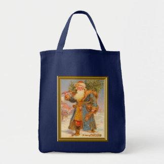 Resuelva el Santa azul Bolsas De Mano
