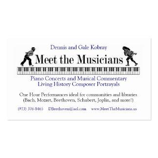 Resuelva la tarjeta de visita de los músicos A