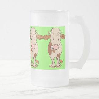 Resuelva las vacas marrones 2 taza de cristal