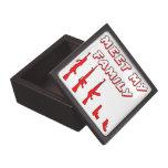 Resuelva mi familia del arma cajas de recuerdo de calidad