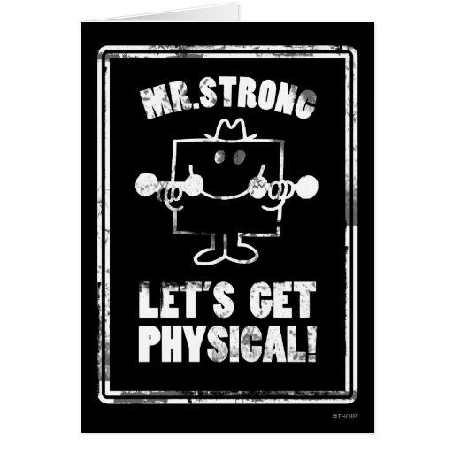 Resuélvase con Sr. Strong Tarjeta De Felicitación