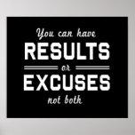 Resultados o excusas