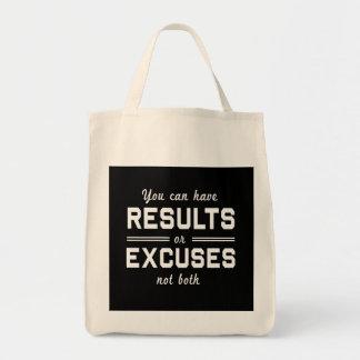 Resultados o excusas bolsa tela para la compra