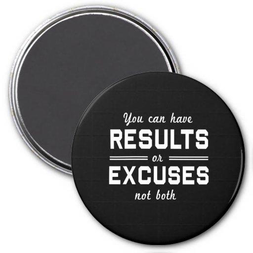 Resultados o excusas imanes