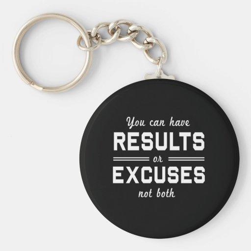Resultados o excusas llaveros personalizados
