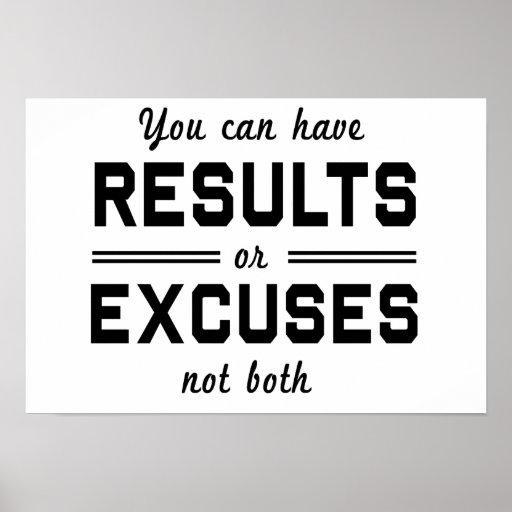 Resultados o excusas posters