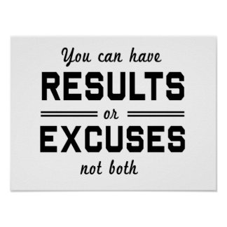 Resultados o excusas póster