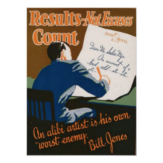 Results-Not Excuses Count Poster