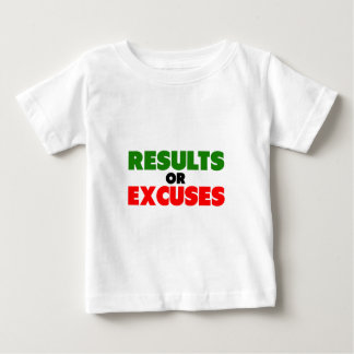 Results or Excuses | Fitness Quotes | Green Style Baby T-Shirt