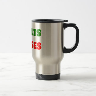 Results or Excuses   Fitness Quotes   Green Style Travel Mug