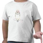 Resuma el dibujo del arte - búho - camisetas del