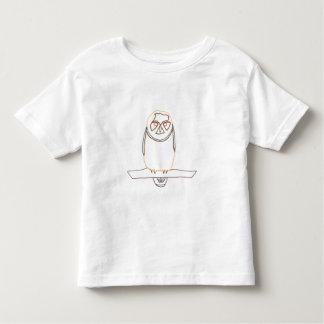 Resuma el dibujo del arte - búho - camisetas del playeras