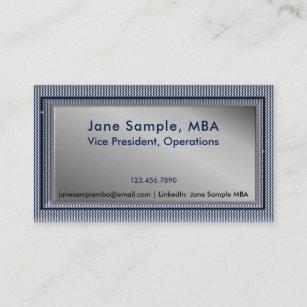 Mba business cards zazzle rsum networking business cards blue plaid colourmoves