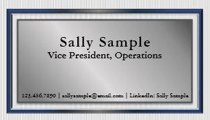 Linkedin business cards templates zazzle rsum networking business cards metallic facade colourmoves Gallery
