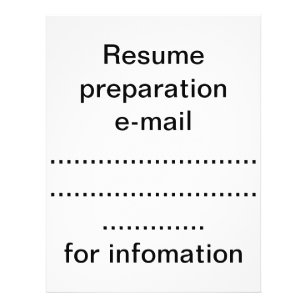 Resume Flyers Zazzle