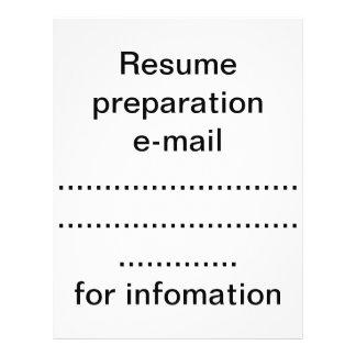 Resume preparation flyer
