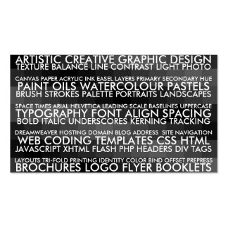 Resume Style - Black Double-Sided Standard Business Cards (Pack Of 100)