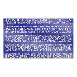 Resume Style - Blue Double-Sided Standard Business Cards (Pack Of 100)