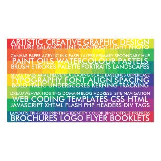 Resume Style - Multi Double-Sided Standard Business Cards (Pack Of 100)