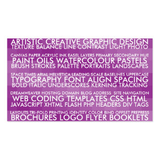 Resume Style - Purple Double-Sided Standard Business Cards (Pack Of 100)