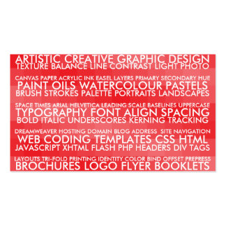 Resume Style - Red Double-Sided Standard Business Cards (Pack Of 100)