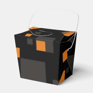 Resumen digital anaranjado alerta del arte de la caja para regalos
