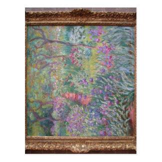 Resumen el jardín del artista en Giverny (1900), a Postal