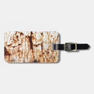 resumen marrón oxidado del humo de la quemadura de etiquetas de equipaje