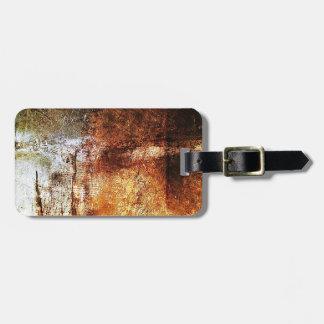 resumen marrón oxidado del humo de la quemadura de etiquetas bolsas