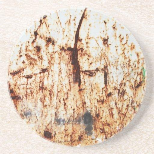 resumen marrón oxidado del humo de la quemadura de posavasos cerveza