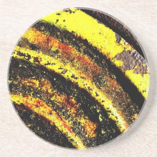 resumen marrón oxidado del humo de la quemadura de posavasos manualidades