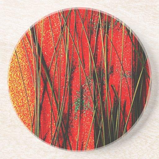 resumen marrón oxidado del humo de la quemadura de posavasos personalizados
