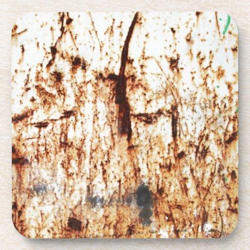 resumen marrón oxidado del humo de la quemadura de posavasos