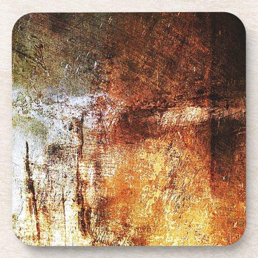 resumen marrón oxidado del humo de la quemadura de posavasos de bebidas